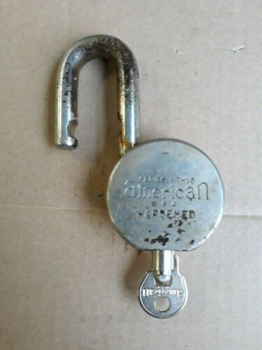 American Lock U.S.A. Hardened Padlock Series HT - 15 Tubular Lock w/ barrel key