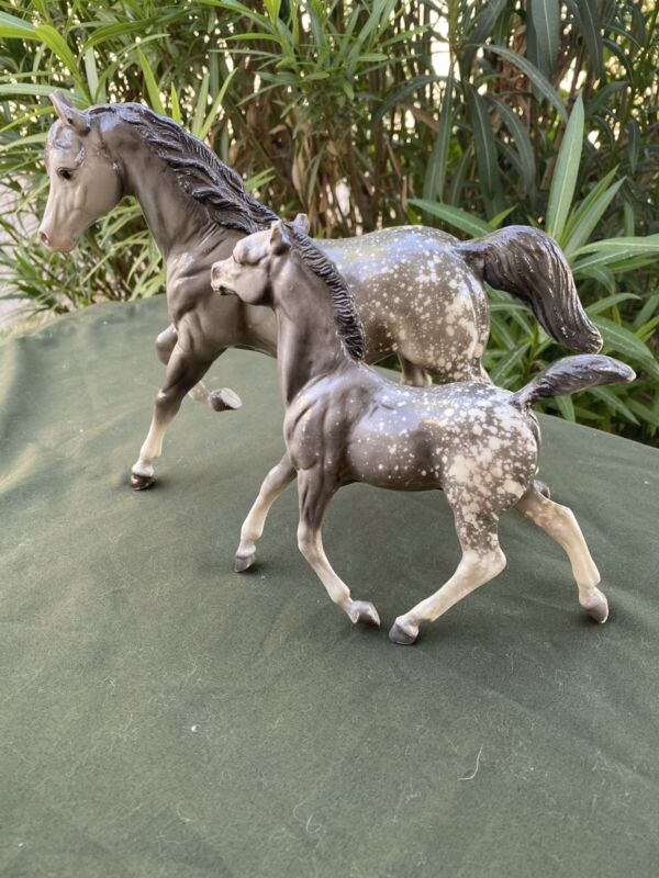 Breyer Antique Appaloosa Mare And Foal 1961