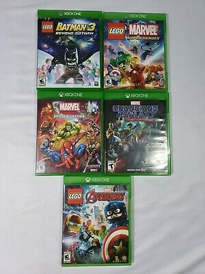 Lot of 5 Xbox one/Kids /marvel /Avengers/Lego/batman/ Video games/fast shipping