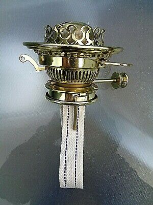 A VERY GOOD QUALITY HINKS & SON No 2 LEVER RISE & FALL OIL LAMP BURNER. (2)