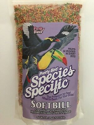 PRETTY BIRD SOFTBILL FOOD, MYNAH AND TOUCAN 3 LB. BRAND NEW  (03/22/21)