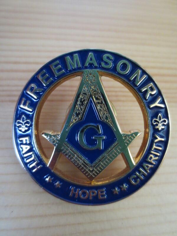 Masonic blue Lapel Pins Badge Mason Freemason B31 HOPE FAITH CHARITY