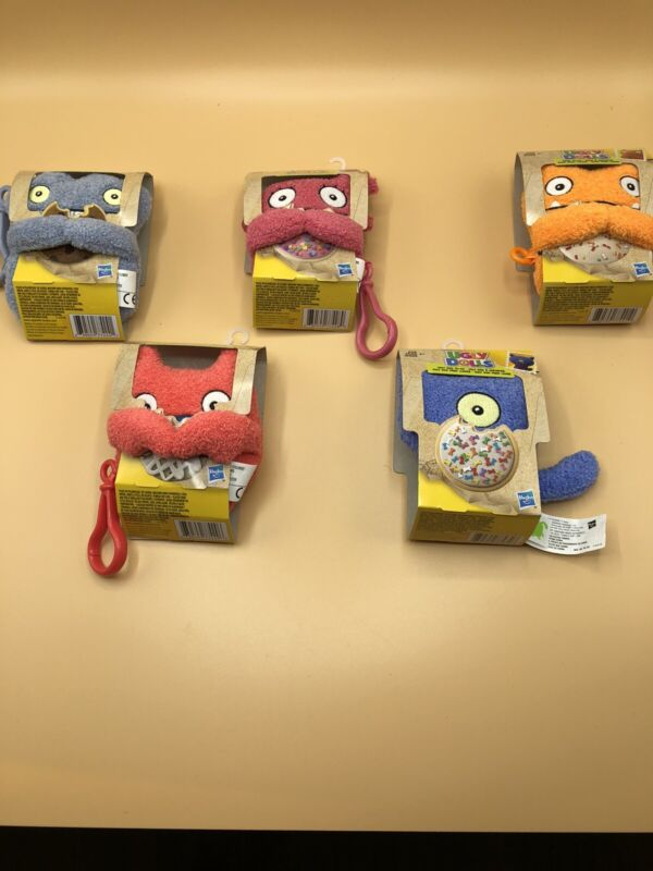 5 Ugly Dolls To-Go 5 inch Mini Plush Clip - LUCKY BAT,  WAGE, MOXY, BABO, UGLY