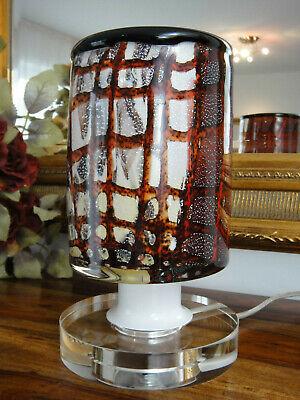 Tischleuchte Murano Stil Tischlampe Kristall Glas Lampe Handwerkskunst Edel NEU