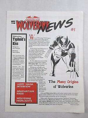 Wolverine News  1 1994 Fanzine Marvel Comics American Entertainment Rare