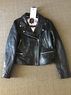 Wheels & Dollbaby Women's Classic Leather Motorcycle Jacket