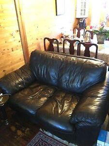 100% leather couch for two people