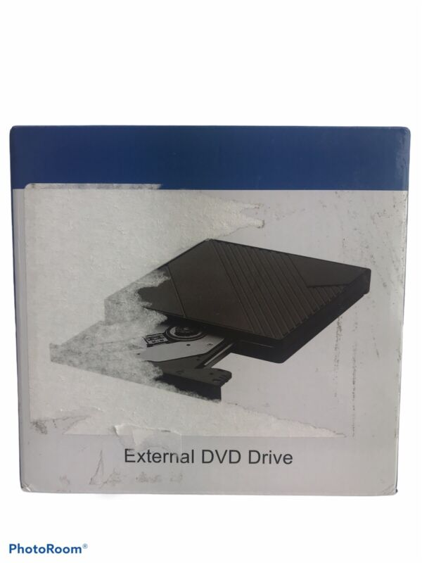 NIB Rodzon Black External DVD Drive USB/USB-C