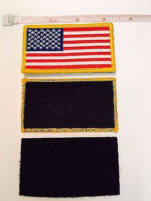 USA EMBROIDERED AMERICAN FLAG VELCRO PATCH, TACTICAL, MILITARY