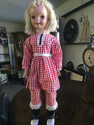 """Walt Disney's Pollyanna Haley Mills 30"""" Doll Uneeda - all original 1960's w/ tag"""