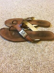 Coach Radiant Leather Thong Sandals - Size 8.5