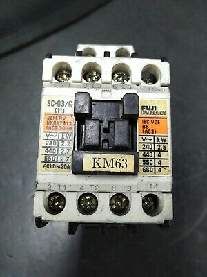 Fuji Electric Sc-03g Magnetic Contactor 3-phase 24vdc Coil Din Rail