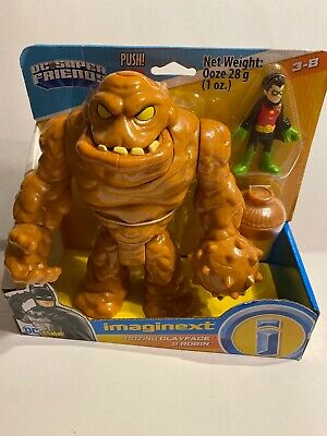 "Imaginext Batman DC Super Friends OOZING CLAYFACE and ROBIN Deluxe 3"" Figure Set"