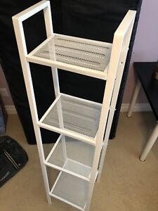 White shelf with 4 layers