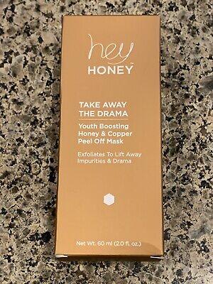 Hey Honey Take Away the Drama Honey & Copper Peel Off Mask 2 oz 60ml New In Box