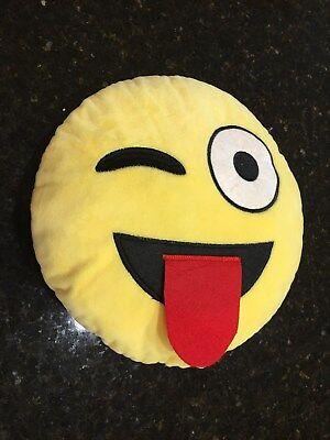 Emoji Pillow Yellow Round Cushion Soft Emotion Plush Doll 13