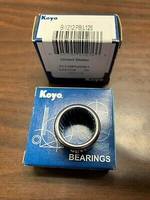 Koyo B-1212 Needle Roller Bearing Full Complement Drawn Cup Open
