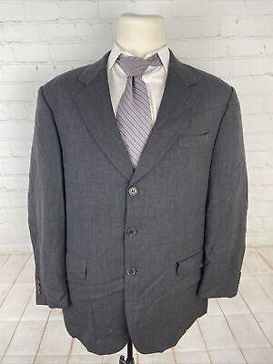 Manzoni Couture Men's Gray Suit Solid Suit 48R 37X24 $348