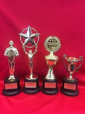 Award Trophy Small Gold Plastic Achievement Trophy  Championship, Star, Cup 4-1C](Plastic Trophy)