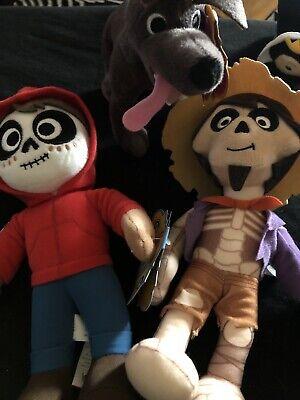 """2016 Mattel Disney Pixar COCO  Hector , Miguel And Dante 7-8"""" Plush"""
