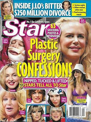 Star Magazine Plastic Surgery Jennifer Lopez Marc Anthony Bethenny Frankel