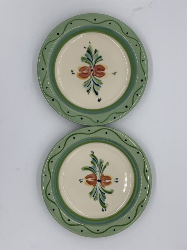 "2 GAIL PITTMAN Southern Living at Home Mint 6 7/8"" Bread & Butter PLATES"