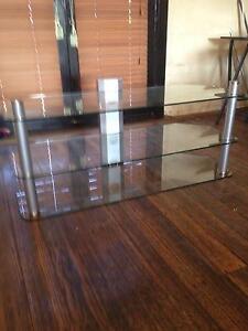 STRONG GLASS THREE SHELF TV & DVD Albert Park Port Phillip Preview