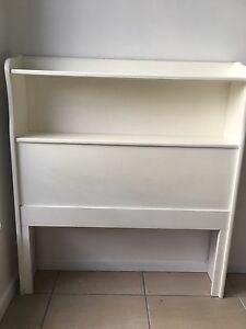 Solid white wood single bedhead Paddington Brisbane North West Preview