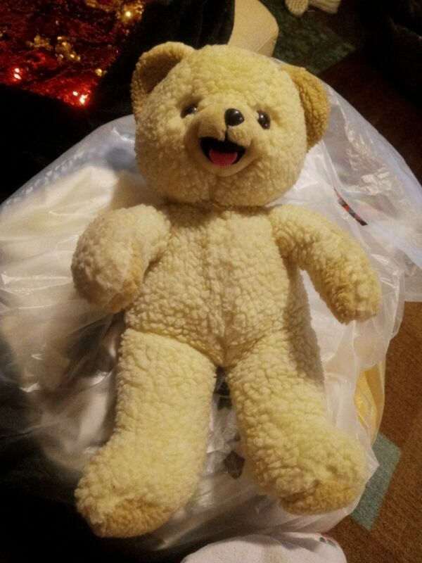 Snuggles Bear Plush 1985 Lever Brothers Russ Berrie Made In Korea