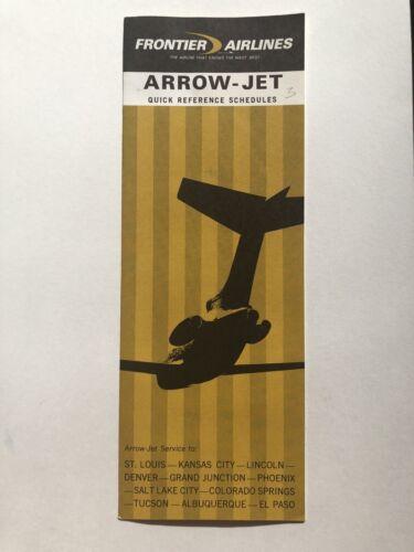 1967 Frontier Airlines Arrow-Jet Timetable Schedule