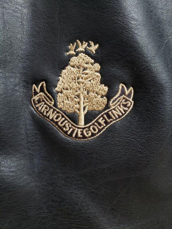 Carnoustie Golf Links Angus Scotland UK BLACK Leather Golf Shoe BAG Travel Case
