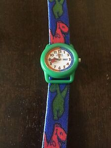Kids Timex Watch with Dinosaur band. New battery installed