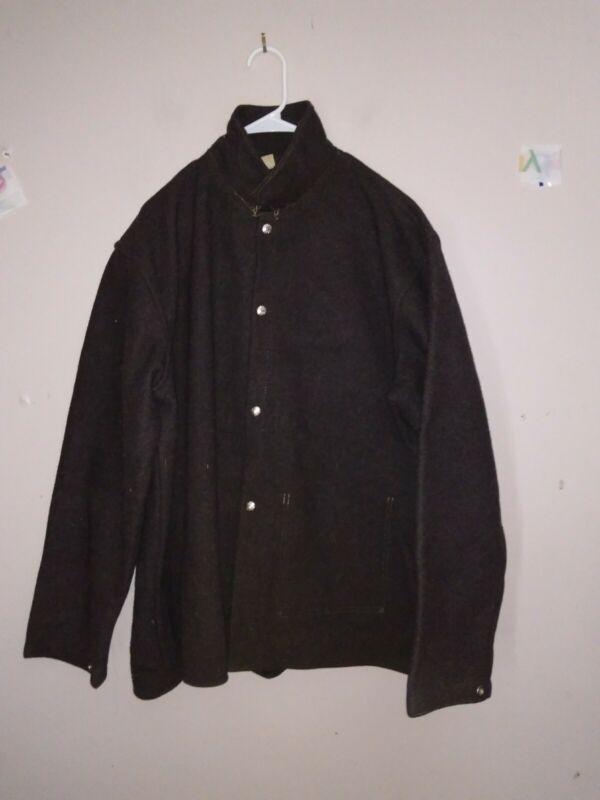 Vintage Rare Wool Wheeler Protective Apparel Jacket Coat Shirt Fireman Chicago