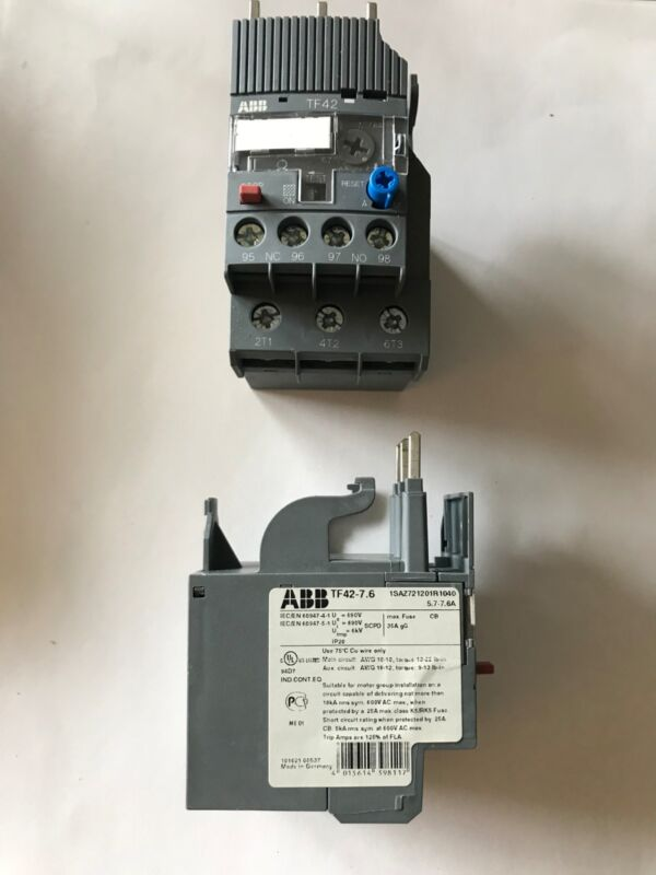 New ABB Thermal Overload Relay #TF42-7.6 $25. each- 3 avail.