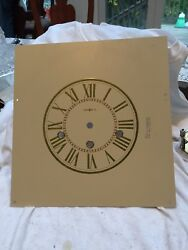Howard Miller Triple Chime Wall Clock Face 10.5 By 10 Very Good Lot A-30