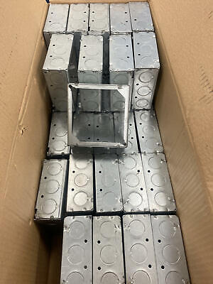 Lot Of 34 G-box G-2014 Square Extension Ring Outlet Boxes4l X 4w X 1-12d