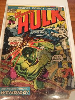 The incredible Hulk 180 first wolverine marvel comic