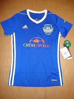 - Adidas Tiro 17 Charlotte Soccer Acad. Womens Royal Blue Climacool Jersey XS XXS