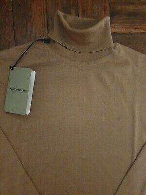 JOHN SMEDLEY CHERWELL Merino Wool Light Camel Pullover Size Medium BNWT RRP £165
