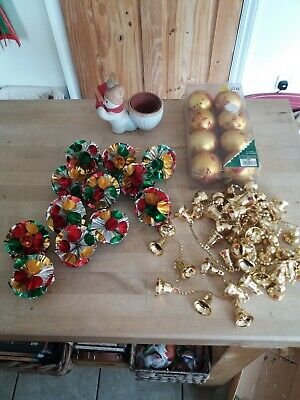 Job Lot 🎄Old Christmas Decorations,Bits & Bobs of Christmas stuff as seen.🎄
