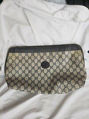 """GUCCI"" Auth Vintage GG Monogram PVC Leather Navy Bag"