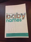 Baby names book Yokine Stirling Area Preview