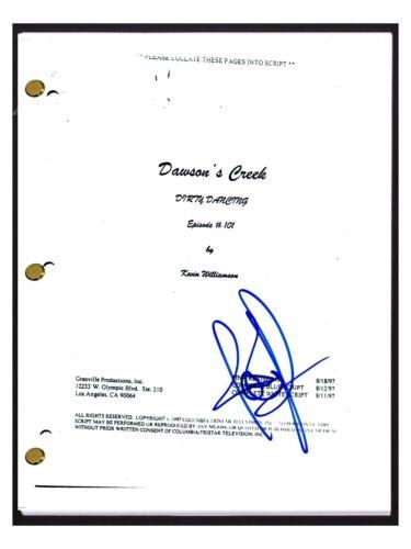 Joshua Jackson Signed Autographed DAWSON'S CREEK Pilot Episode Script COA