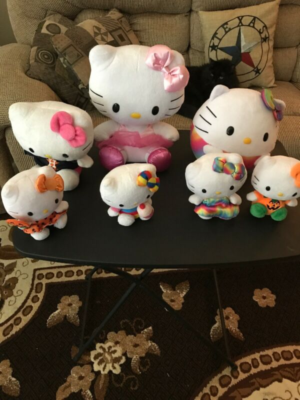 LOT OF 7 HELLO KITTY PLUSH ANIMALS