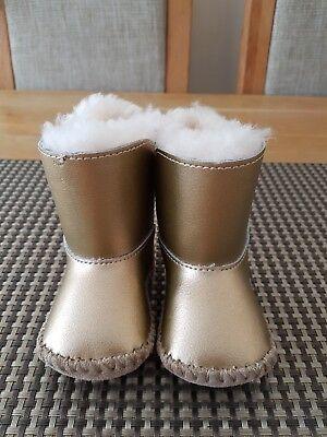 Ugg Booties Baby (UGG CASSIE METALLIC GOLD BOOTIES BABY GIRLS SIZE UK0.5 EU16 GENUINE)