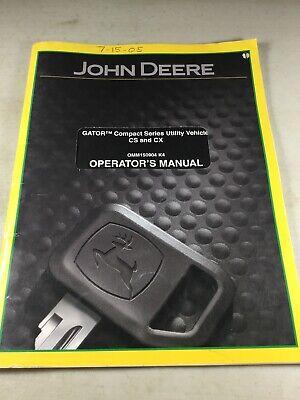 John Deere Cs Cx Compact Series Utility Vehicle Gator Operators Manual