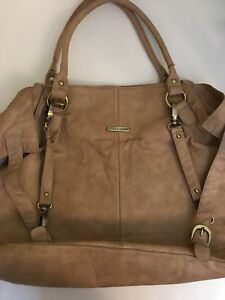 Timi And Leslie Khaki Diaper Bag Stroller Straps Great Organization Flaws See De