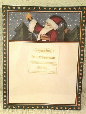 Geographics Santa Star Of Peace 50 Pk Christmas Letterhead Printer Paper 8.5x11 ()