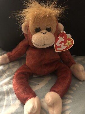 a31b0cccdca TY beanie baby Schweetheart Orangutan monkey Tag protector