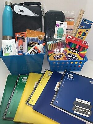 180+ pc. Complete Bundle Essential School Supplies Boy Elementary Middle High